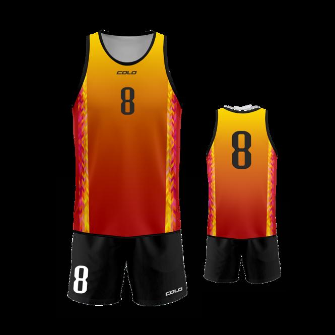 Strój do siatkówki plażowej Colo Fenix - SUBLIMACYJNY
